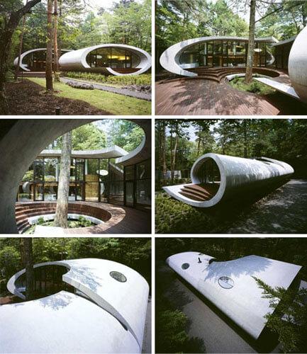 Дом будущего обтекаемый дизайн без