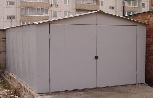 Для сборки гаража применяют