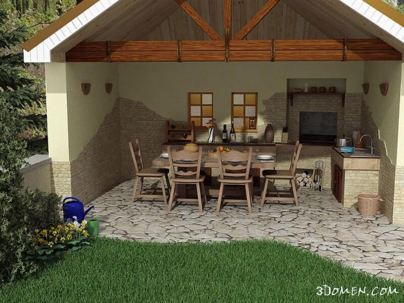 Летняя кухня проекты дачного участка