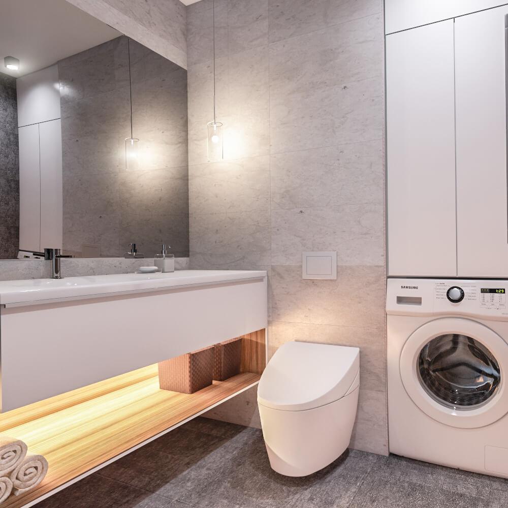 Дизайн интерьера трехкомнатной квартиры в ЖК Ривьера город Киев RG94