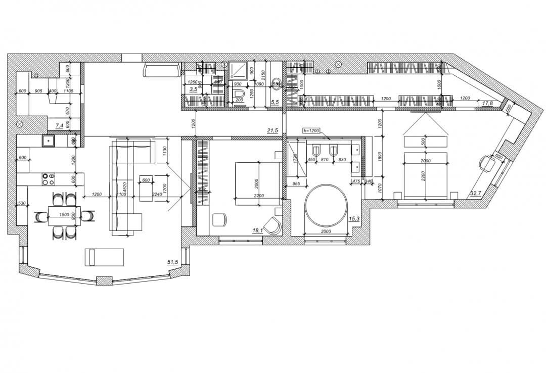 Дизайн квартиры ND112 [ЖК Новопечерские Липки]