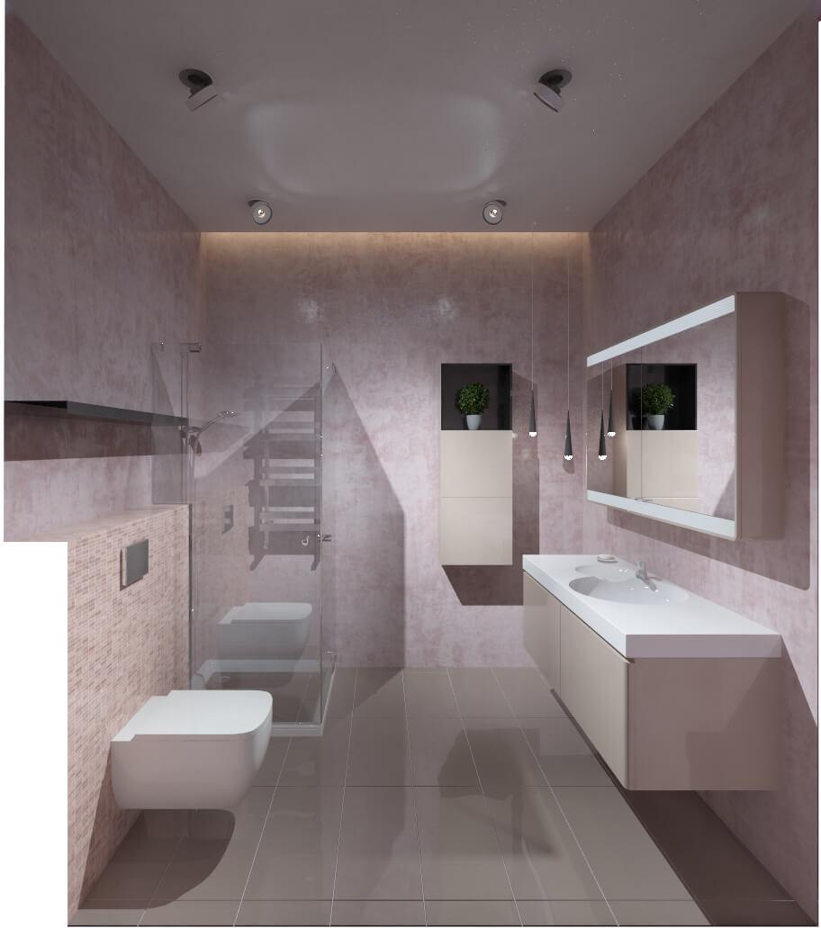 Дизайн интерьера  четырехкомнатной квартиры ЖК Бульвар фонтанов Киев OD131