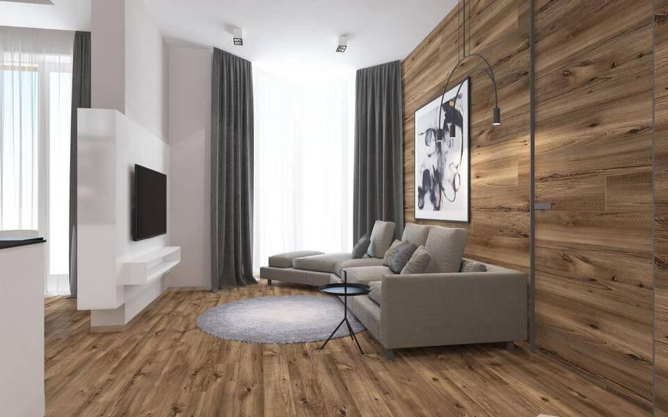 Дизайн интерьера двухкомнатной квартиры ЖК Французский квартал Киев IB72