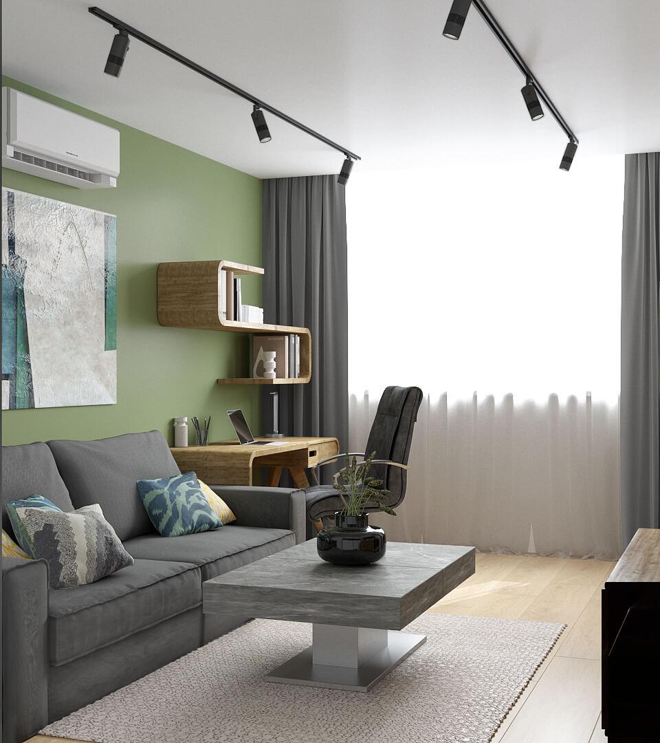Дизайн интерьера двухкомнатной квартиры ЖК Венеция Киев TD73