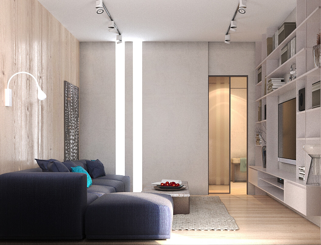 Дизайн интерьера трехкомнатной квартиры ЖК Кадетский гай Киев PK93