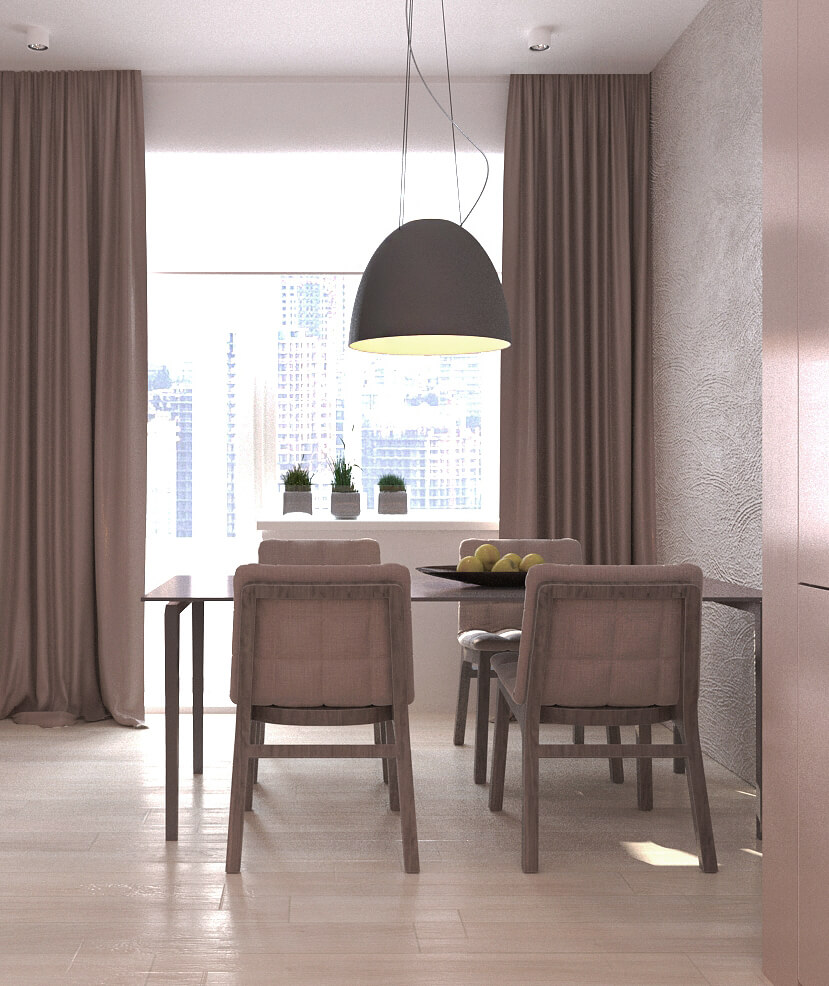 Дизайн интерьера трехкомнатной квартиры ЖК Патриотика Киев NT92
