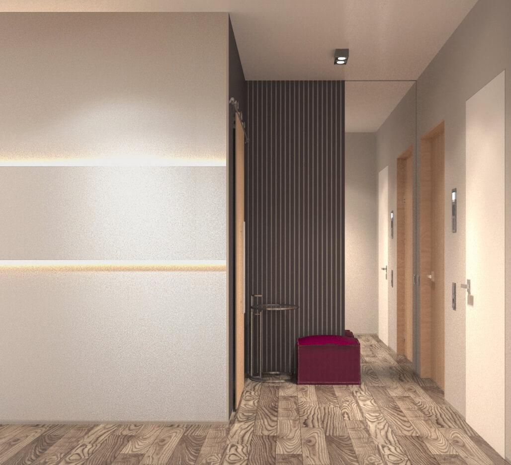 Дизайн интерьера трехкомнатной квартиры ЖК Женева Киев JJ100