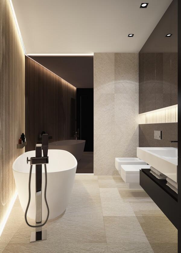 Дизайн интерьера четырехкомнатной квартиры ЖК Маршал град NV151