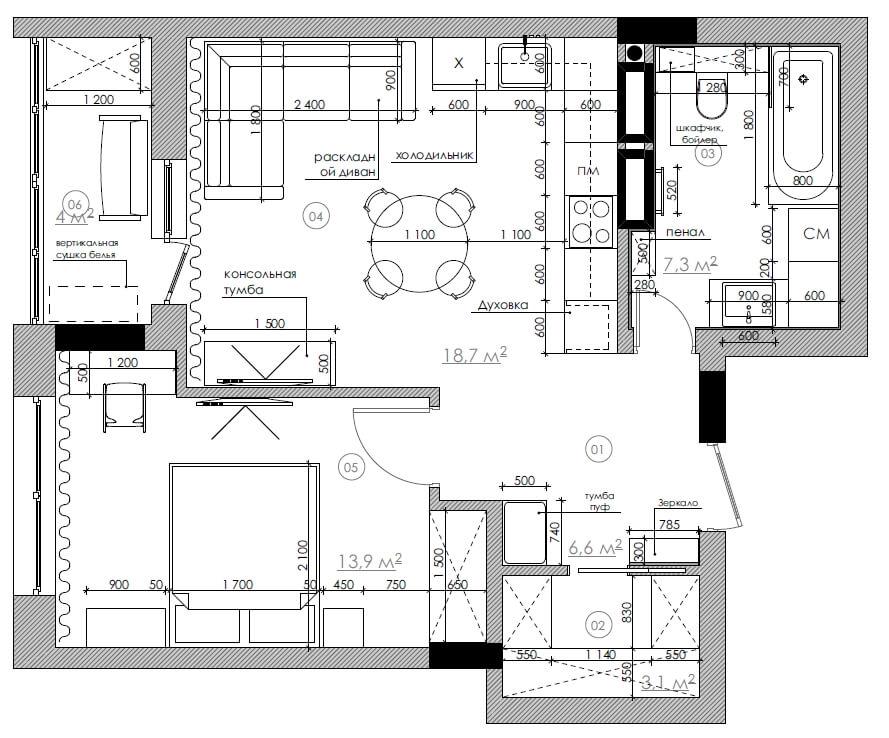 Дизайн квартиры SY54 [ЖК SOHO residence]